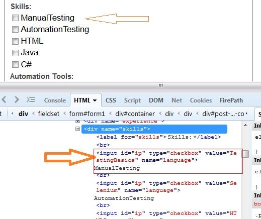 Html input checkbox