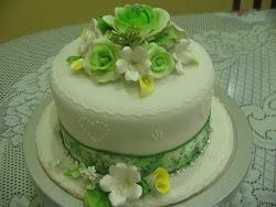 kek fondant hijau