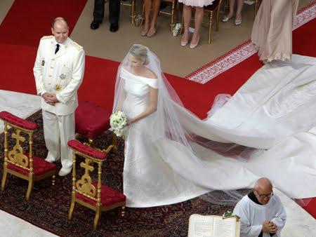 Църковна церемония - сватбата в Монако