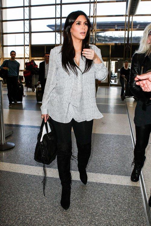 304e2116aa66 Kim Kardashian s Classic Suede City