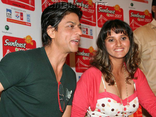 Shahrukh Khan with Sania Mirza