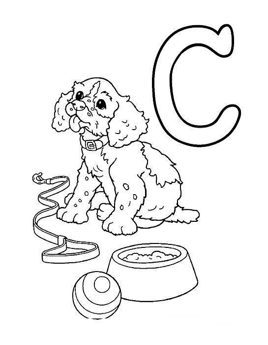 Desenhos Preto e Branco letras do alfabeto letra C Colorir