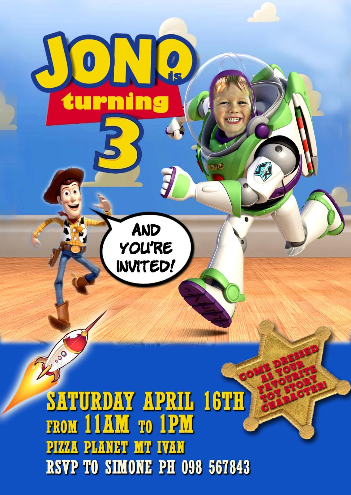 FREE Kids Party Invitations Toy Story Party Invitation – Toy Story Party Invites