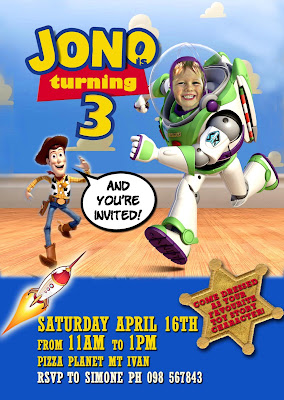Toy Story Party Personalized Invitation with photo