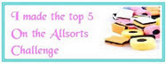 I made the Top 5 at Allsorts challenge - Lavender and Lace Oct 2011