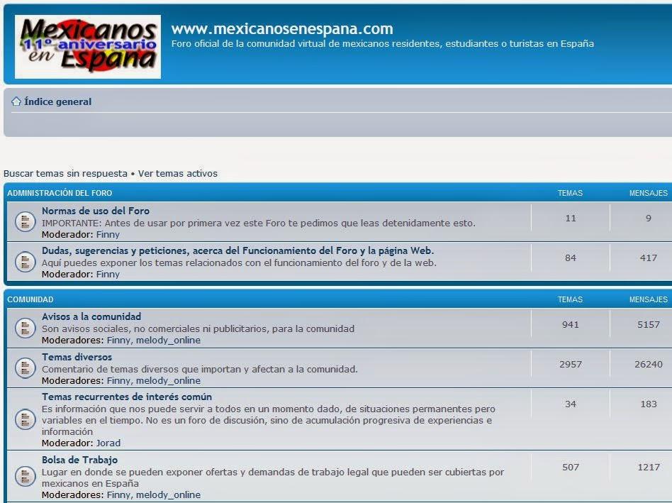 http://www.mexicanosenespana.com/foro.htm