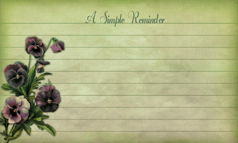 free reminder notes floral