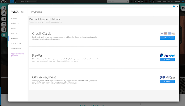 wix payment methods