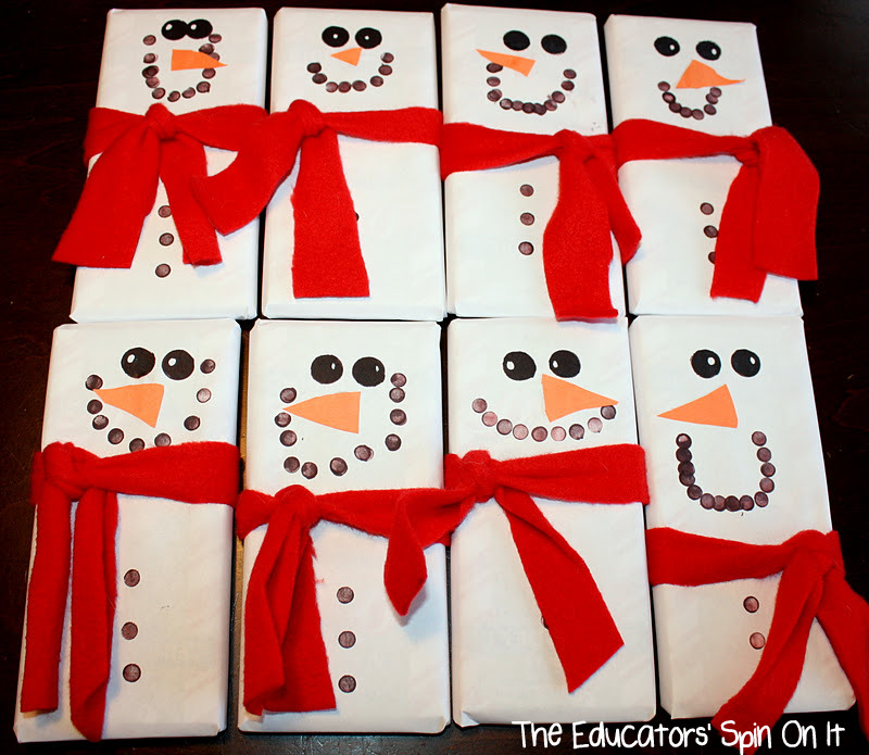 The Educators' Spin On It: Snowmen Candy Bars Make Great ...