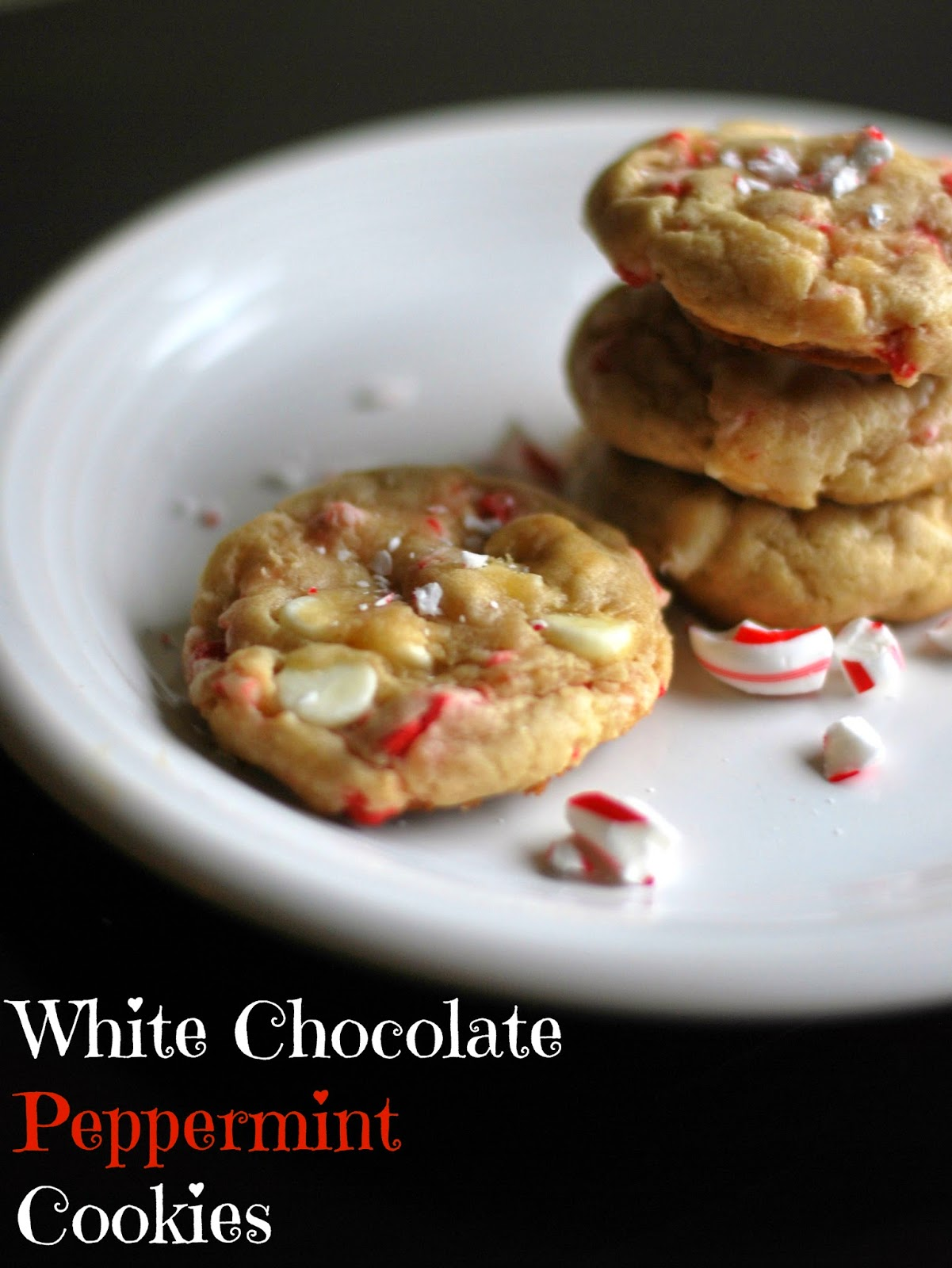 White Chocolate Peppermint Cookies | Aunt Bee's Recipes