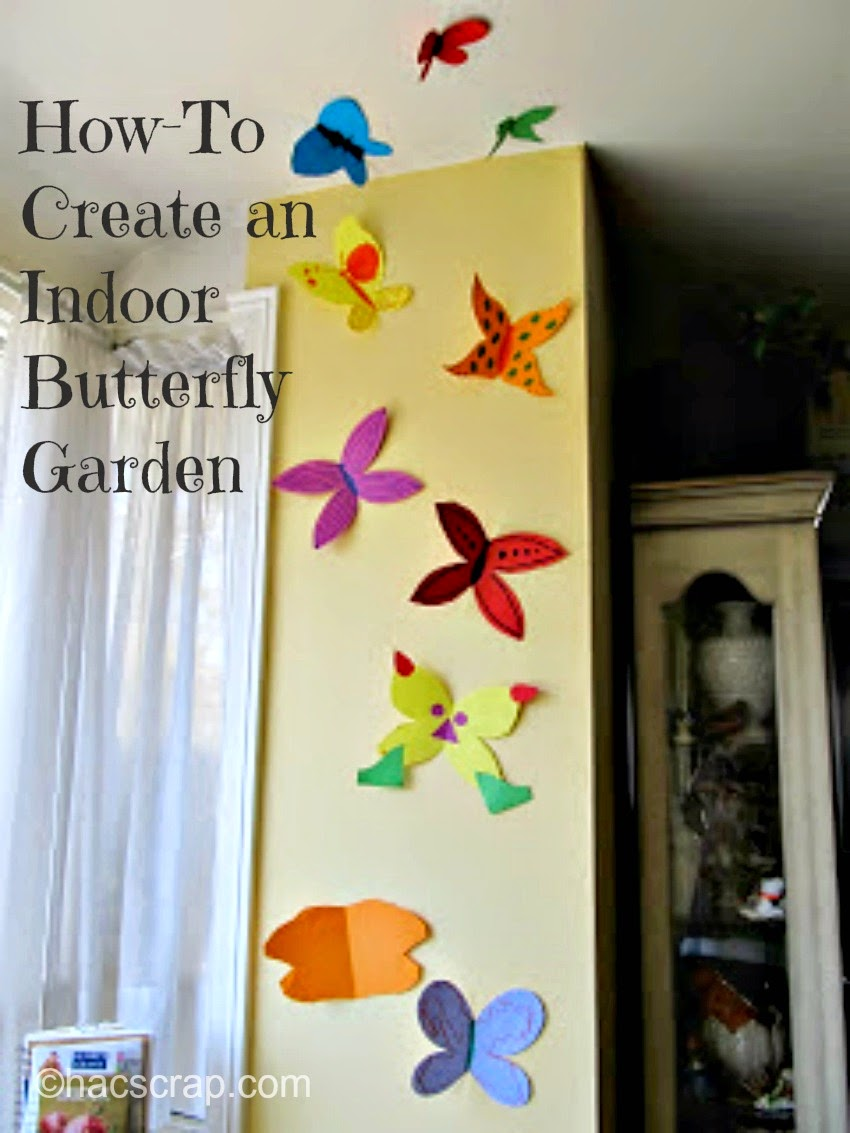 Creating An Inddor Butterfly Garden Out Of Construction Paper And Markers