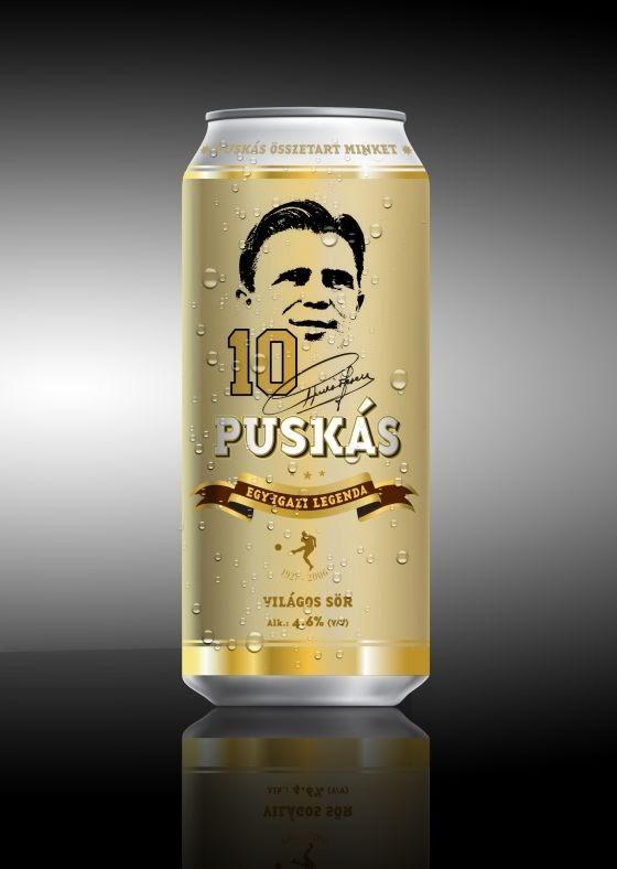 italok, sör, Puskás-sör, Puskás Ferenc, Magyarország, labdarúgás,