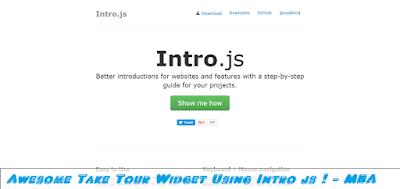 take tour widget for blogger