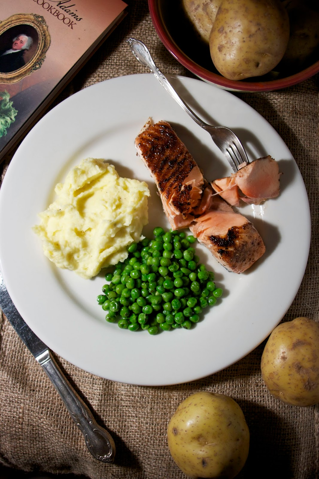 Roasted Salmon: New England Style: simplelivingeating.com