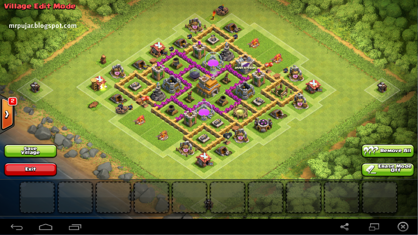 edit vilage desain trophy base coc TH level 7