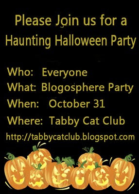 Tabby Cat Club Halloween Party
