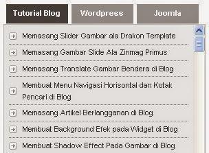 Cara Membuat 3 Tab View dengan scroll di Blog