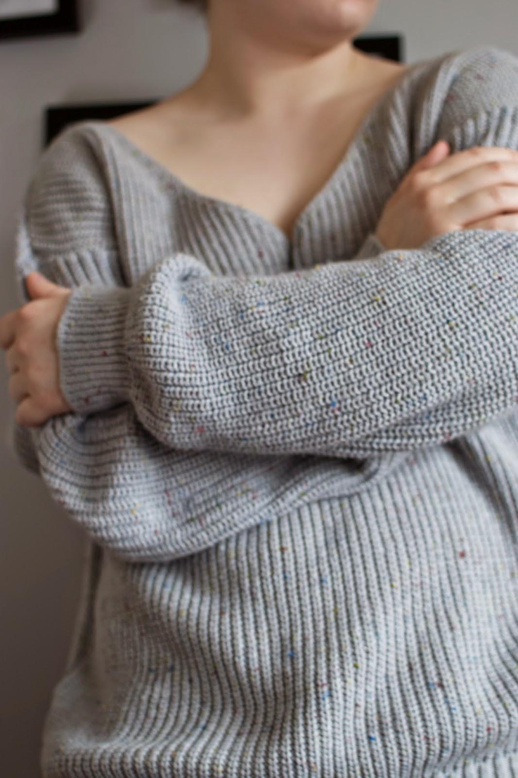 Oversized Sweater Grey Fashion