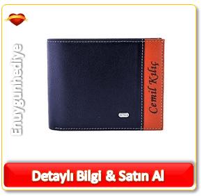 Erkek için özel deri cüzdan