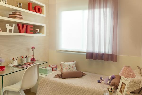 Quarto para meninas adolescentes 15 inspirações atuais e  ~ Quarto Planejado Apartamento Pequeno Feminino