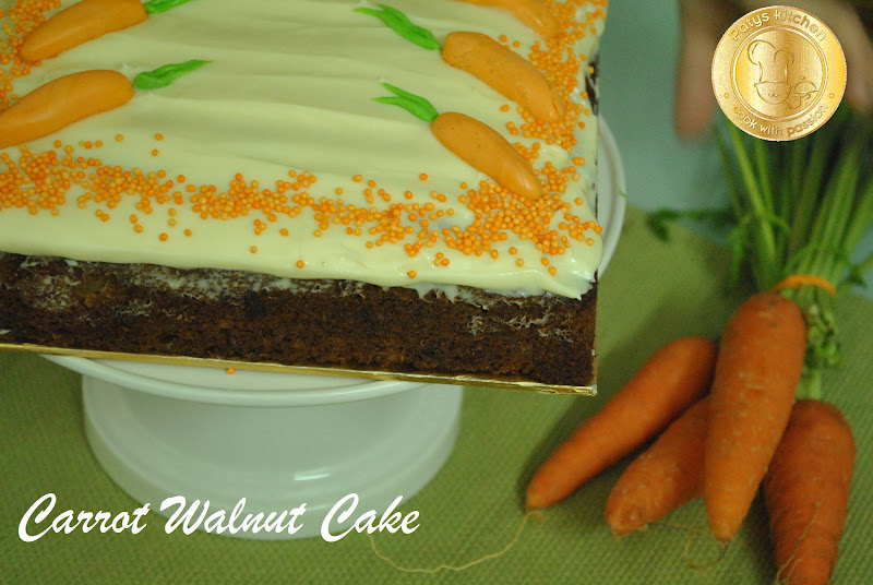 Carrot Walnut Cake Recipe Malaysia