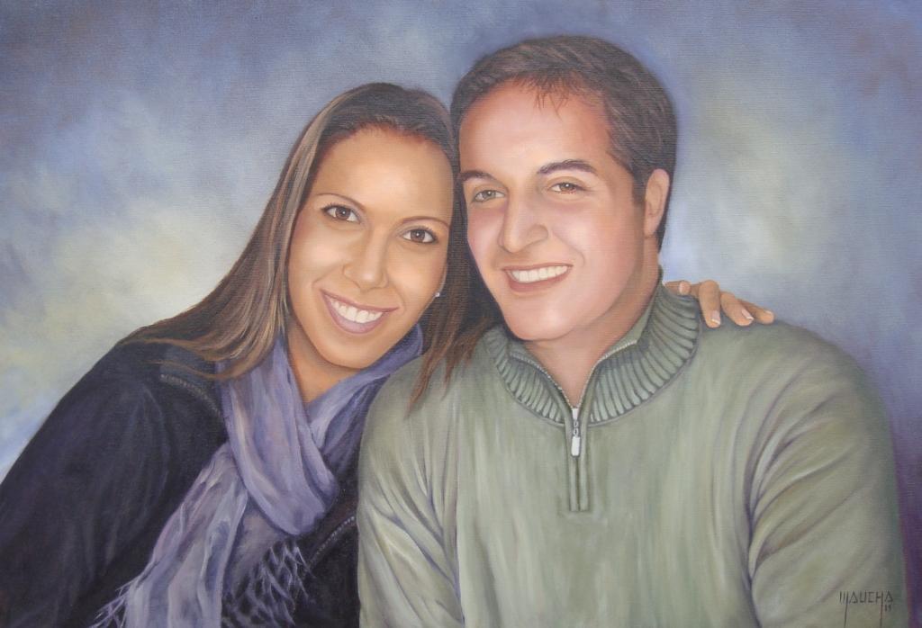 """""""Marcelo e Nana"""" (óleo sobre tela - 60x40 - out 2011)"""