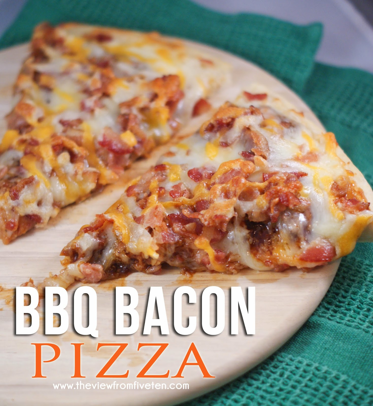 BBQ Bacon Pizza #BaconLove #sponsored