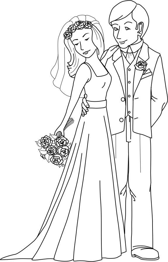 q and u wedding coloring pages - photo #24