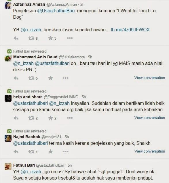 Perang Twitter Antara Fathul Bari Dan Nurul Izzah Anwar Angkara Acara Sentuh Anjing
