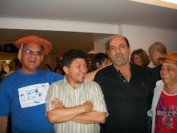 Pedro Monteiro, Dr. Aderaldo, Editor Gregório e eu!