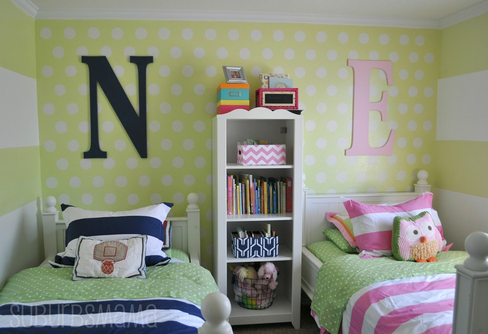 Suburbs mama shared kids room take 3 for Shared boy and girl room ideas