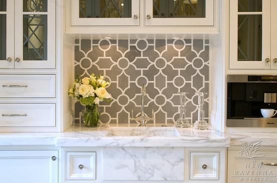 Arbesque Tile Backsplash For Kitchen Contemporary