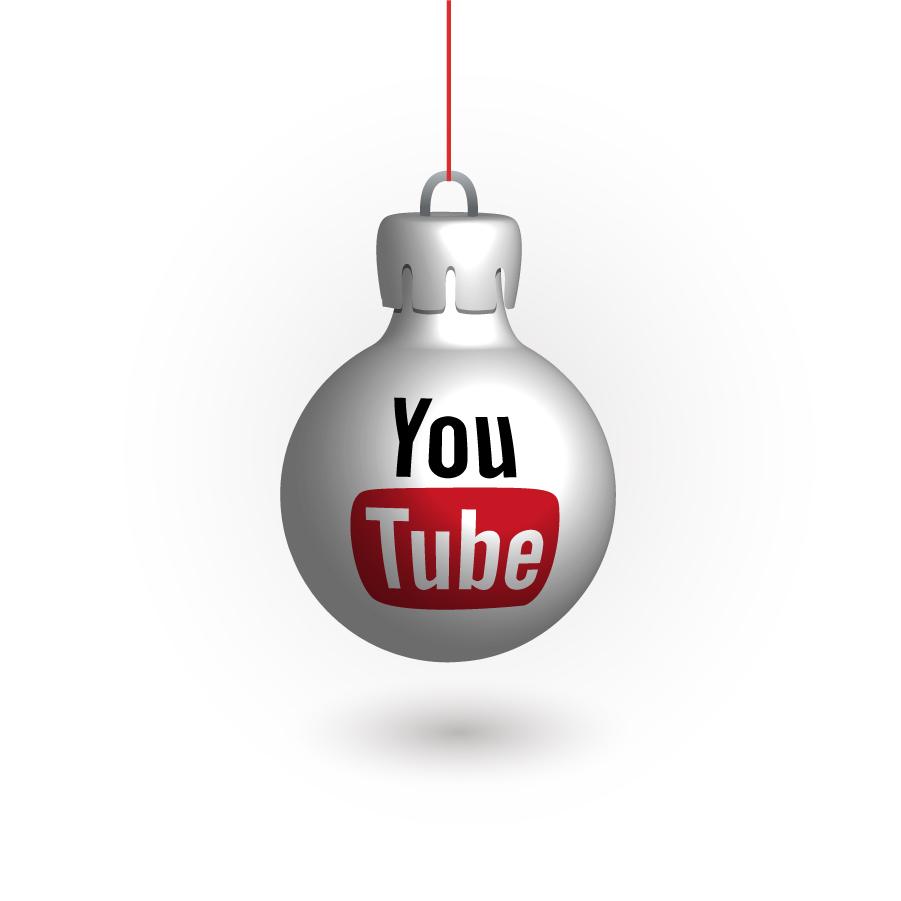 SNSロゴデザインのクリスマスボール Social Media Christmas Balls イラスト素材y