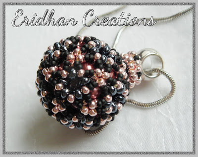 beaded sphere pendant