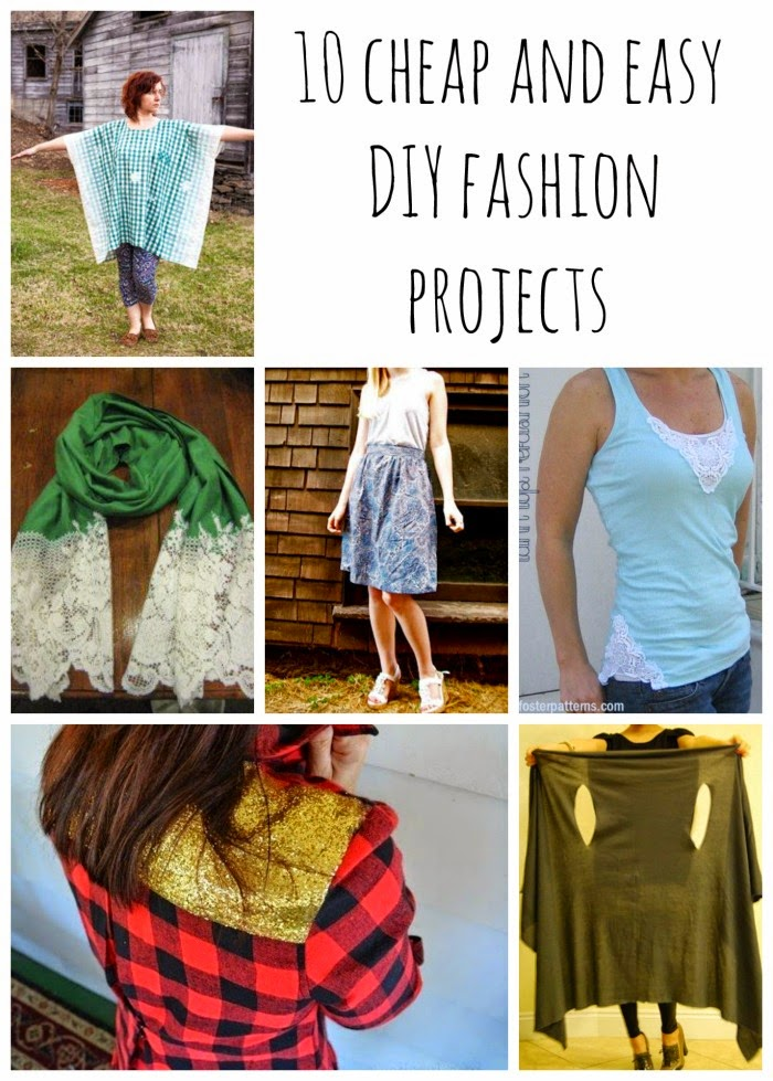 10 cheap and easy DIY fashion projects {Frugal DIY Fashion} #thrifty #diyclothing #diyfashion