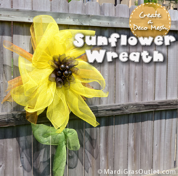 Tutorial for creating an easy sunflower decoration out of Deco Mesh