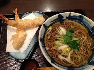 Ebiten Soba ; Soba Noodle Soup with Shrimp Tempura