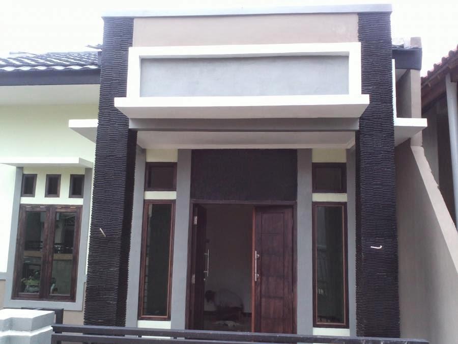 gambar desain eksterior depan rumah model minimalis tipe