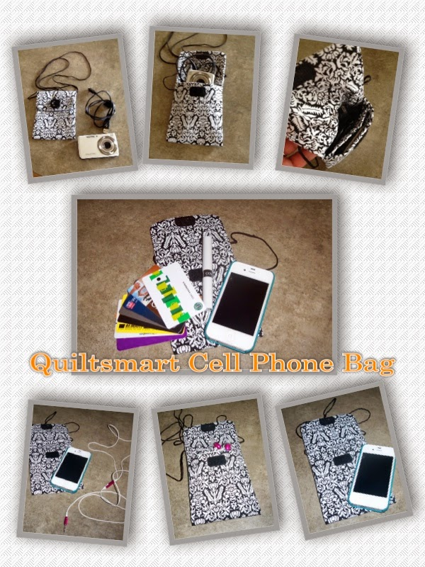 Quiltsmart Cell Phone Bag Collage
