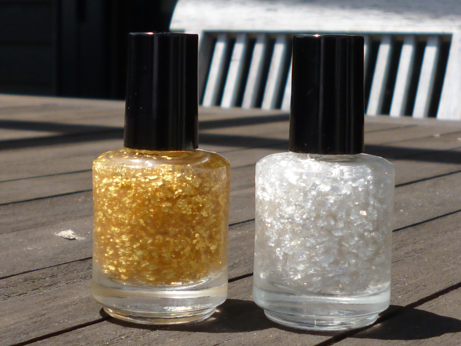 Nail Polish Anon: DIY Gold & Silver Leaf Top Coats
