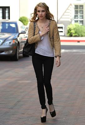 Emma Roberts Leggy Candids