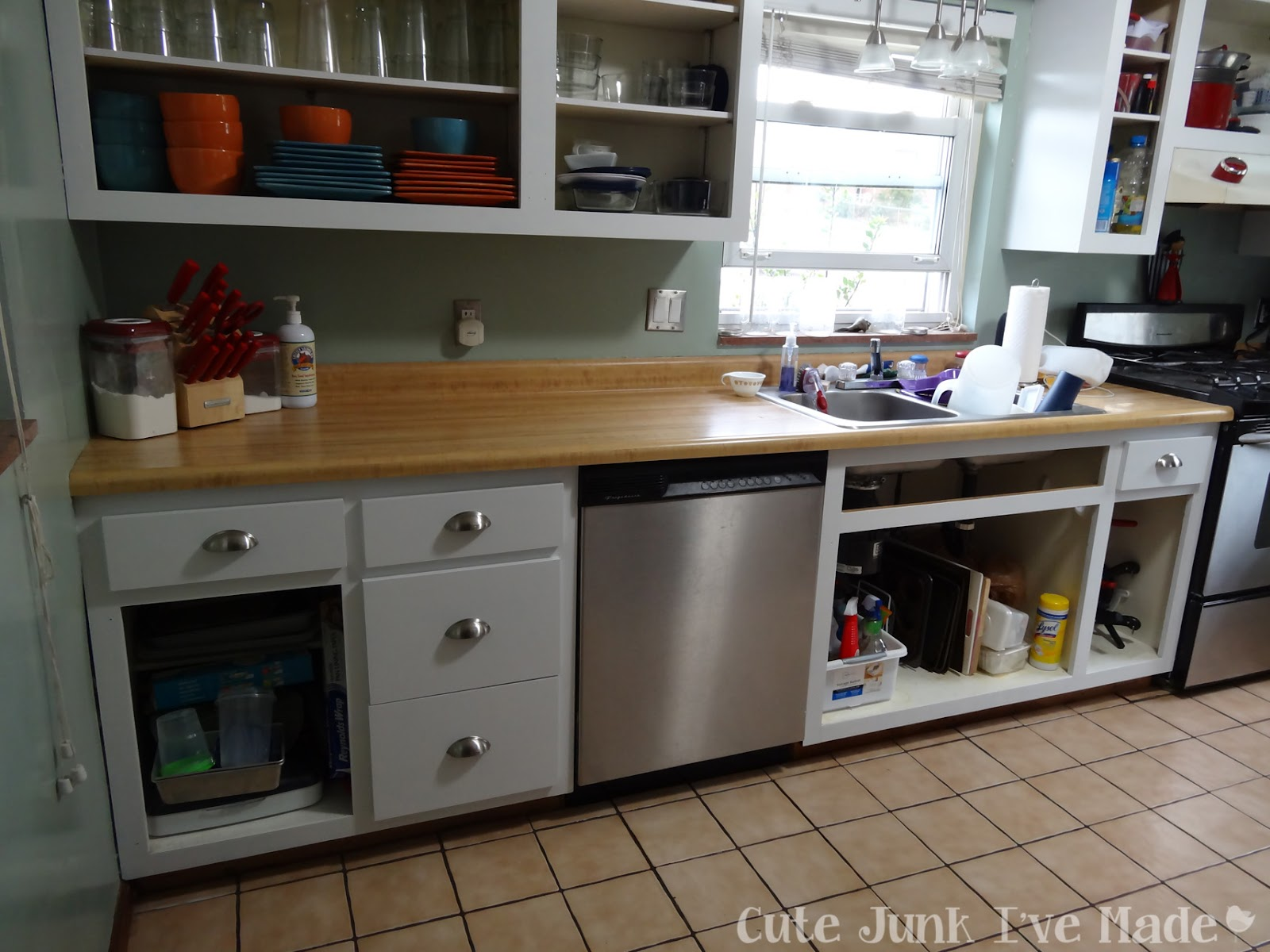 How To Paint Laminate Cabinets   Drawers In, Doors Are Naked