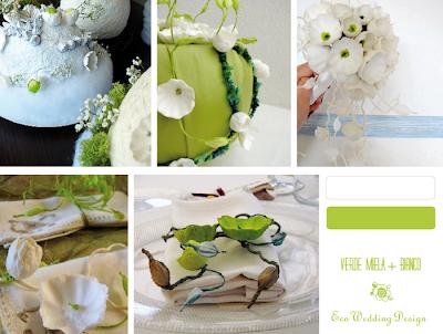 allestimenti matrimonio colori verde e bianco