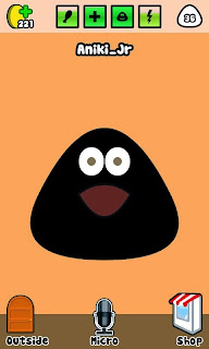 Black skin for pou