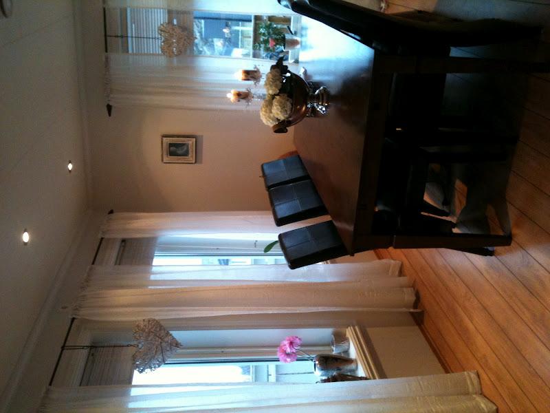 Henriette's blogg: nye gardiner i stuen.