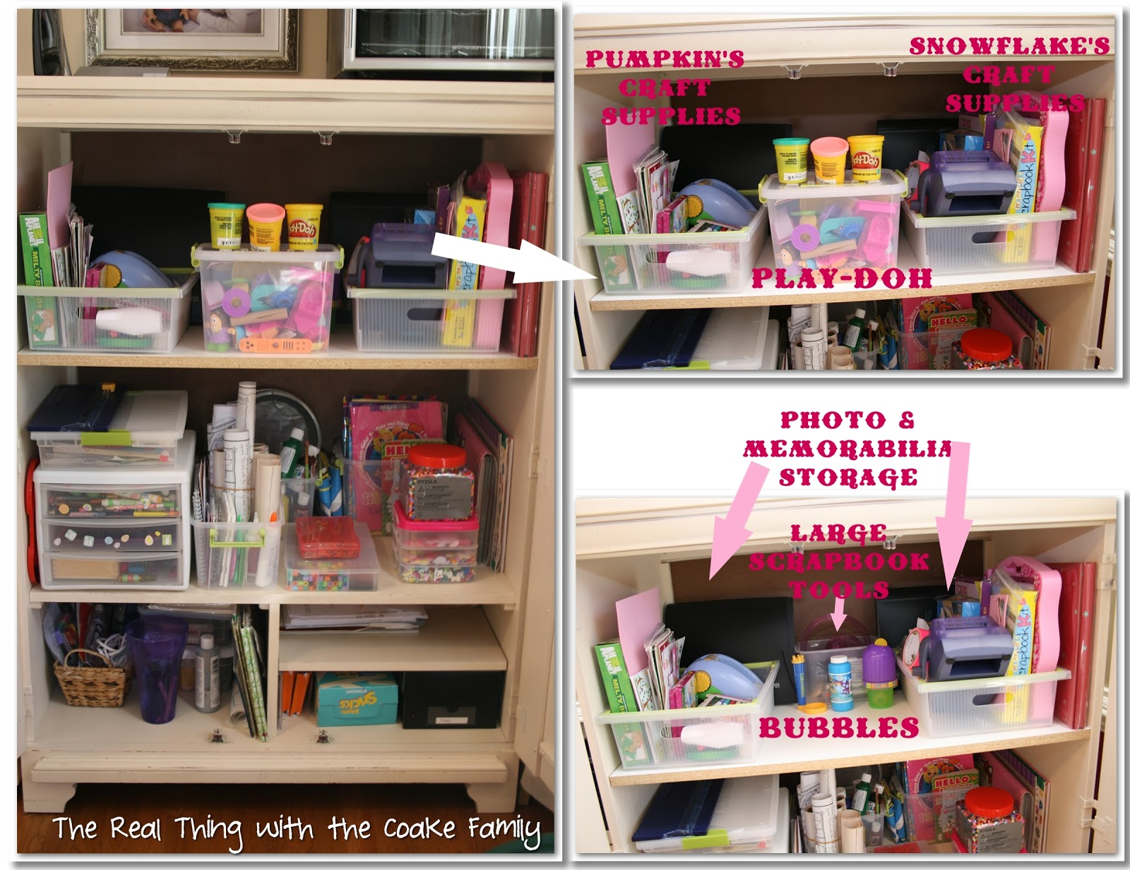 Organizing Ideas: Crafts & Office - The Real Thing with the Coake Family