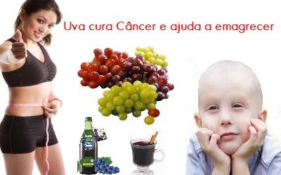 os benefícios da uva para curar cancer e emagrecer