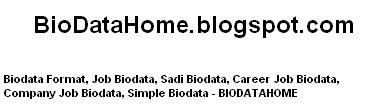 simple biodata format for job