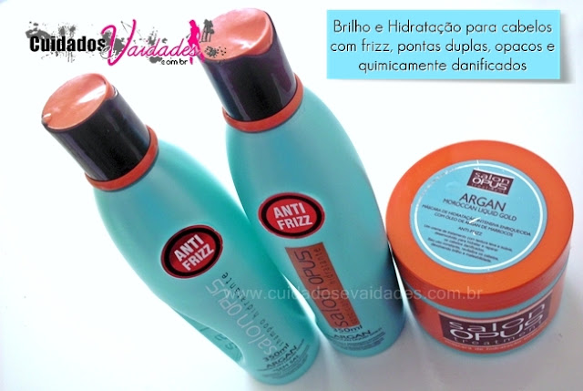 Testei: Salon Opus Argan Marrocan Anti-frizz