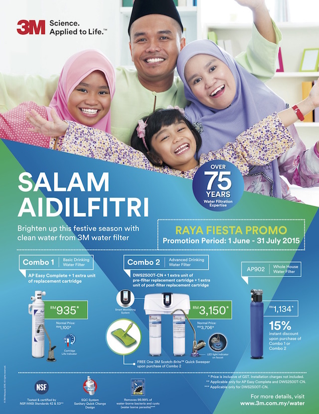Raya promotion by 3M Malaysia for their water filters